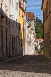 Rua da Alegria, Happiness Road, narrow cobbled lane, Coimbra, Portugal