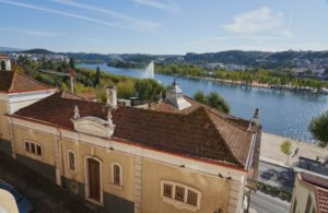 tiled rooftop, house, Mondego River, Coimbra, Portugal