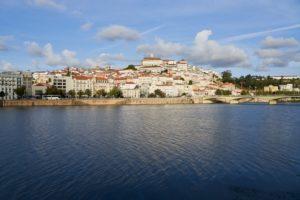 Coimbra cityscape, River Montego, Portugal