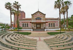 customs house built by Gustave Eiffel in Paris and erected 1874 in Arica, Chile