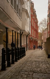 Middle Temple Lane, heart of law chambers, London, UK