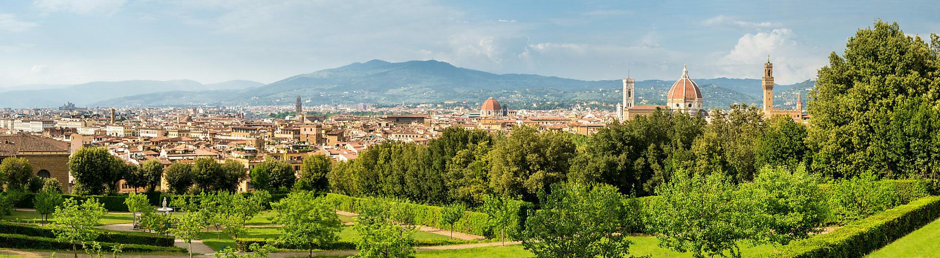 Panorama Florence, view from the Giardino Boboli