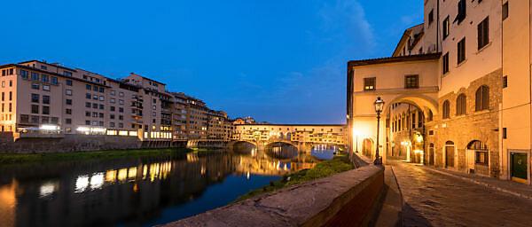 Panorama Florence, Ponte Vecchio, dawn