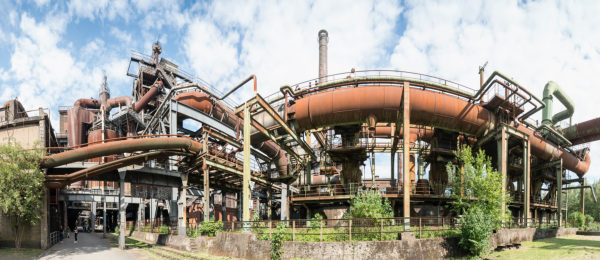 Panorama, Duisburg, North Landscape Park, former iron and steel works