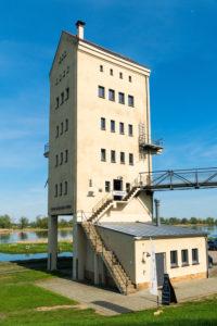 Brandenburg, Oder, Groß Neuendorf, Kulturhafen, Verladeturm, Café