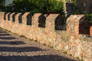 Elbe Cycletour, Saxony, Meissen, capitular court, wall