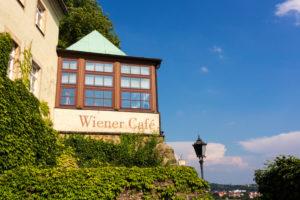 Elbe Cycletour, Saxony, Meissen, capitular court, Café