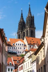 Elbe Cycletour, Saxony, Meissen, Old Town, Meissen Cathedral, castle Albrechtsburg