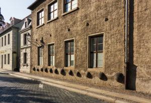 Elbe-Radweg, Sachsen, Torgau, Altstadt, Fassade