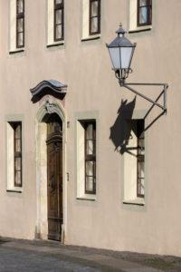 Elbe-Radweg, Sachsen, Torgau, Altstadt, Fassade, Laterne