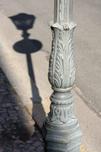Elbe-Radweg, Sachsen, Torgau, Laterne, Schatten