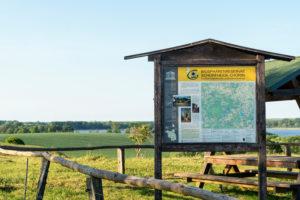 Schorfheide-Chorin Biosphere Reserve, Oberucker lake, information board, lookout