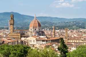 Florence, view from Giardino Bardini to the old town