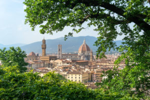 Florence, view from Oltrarno to the old town