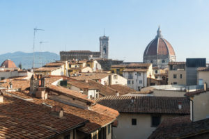Florence, view from the Uffizi towards the cathedral
