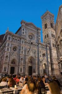 Florenz, Dom, Kathedrale, Restaurant, Abendstimmung