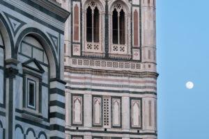 Florence, Dome, Cathedral, Santa Maria del Fiore, Campanile, full moon