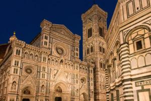 Florenz, Dom, Kathedrale, Santa Maria del Fiore, blaue Stunde