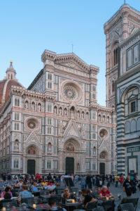 Florenz, Dom, Piazza San Giovanni, Abendstimmung