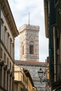 Florenz, Durchblick zum Campanile di Santa Maria del Fiore