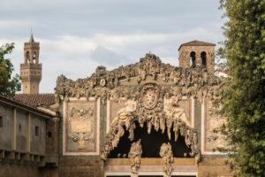 Florence, Giardino di Boboli, Grotto, Palazzo Vecchio