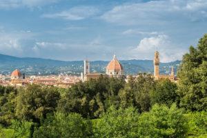Florence, Giardino di Boboli, view to the old town