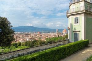 Florence, Giardino di Boboli, coffee house, old town