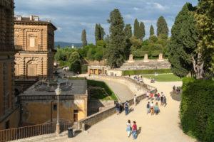 Florence, Giardino di Boboli, walkers