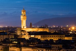 Florence, Palazzo Vecchio at night
