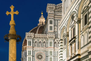 Florenz, Piazza San Giovanni, Kreuz, Symbol
