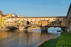 Florence, Ponte Vecchio in the morning light