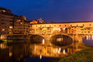 Florence, Ponte Vecchio, dawn