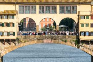 Florence, Ponte Vecchio, tourist crowds