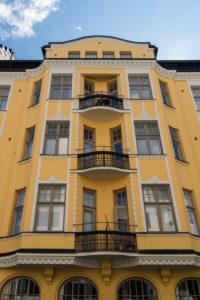 Helsinki, Iso Robertinkatu 26, Art Nouveau façade