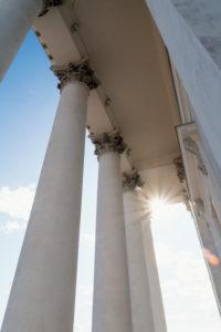 Helsinki, Altstadt, Dom, Säulen, Gegenlicht