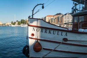 Helsinki, Halkolaituri quay, harbor of historic ships, Norkulla in the evening light