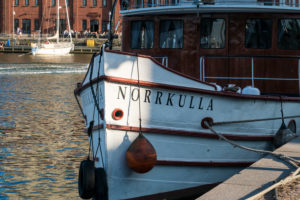 Helsinki, Halkolaituri quay, harbor of historic ships, Norkulla in the evening light