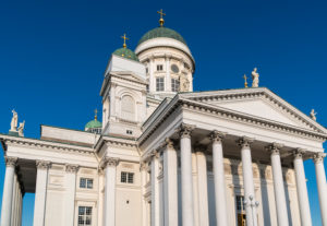 Helsinki, cathedral, portal with columns
