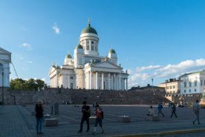 Helsinki, Senatsplatz, Dom, Abendstimmung