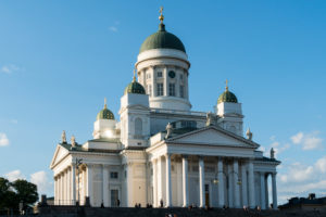 Helsinki, Senate Square, cathedral, evening mood