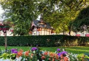 Helsinki, Esplanadi Park, Sommer, Abendstimmung