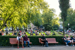 Helsinki, Esplanade Park, summer, evening mood, city life, people