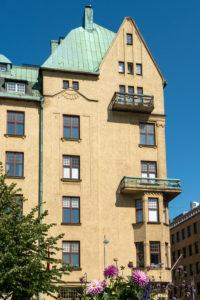 Helsinki, Altstadt, Kasarmitori-Platz, Jugendstilfassade