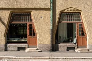 Helsinki, Old Town, Art Nouveau, Fabianinkatu, shop window