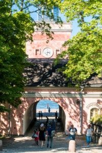 Helsinki, island Suomenlinna, sea fortress, shore barracks, gate