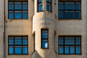 Helsinki, Jugendstilarchitektur im Stadtteil Eira, Haus Kointähti, Pietarinkatu
