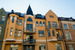Helsinki, Art Nouveau architecture in the district of Eira, Juvilakatu, voted Helsinki's most beautiful street
