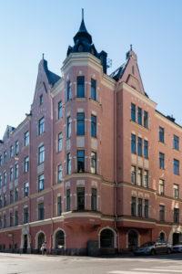 Helsinki, Art Nouveau architecture in the Eira district, Pietarinkatu / Neitsytpolku
