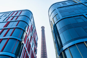 Estonia, Tallinn, Rotermann City, modern business district, glass facades