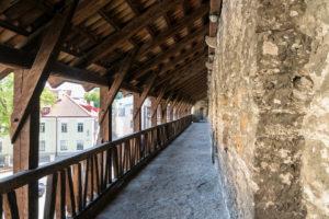 Estonia, Tallinn, medieval city wall, pot wall, aisle